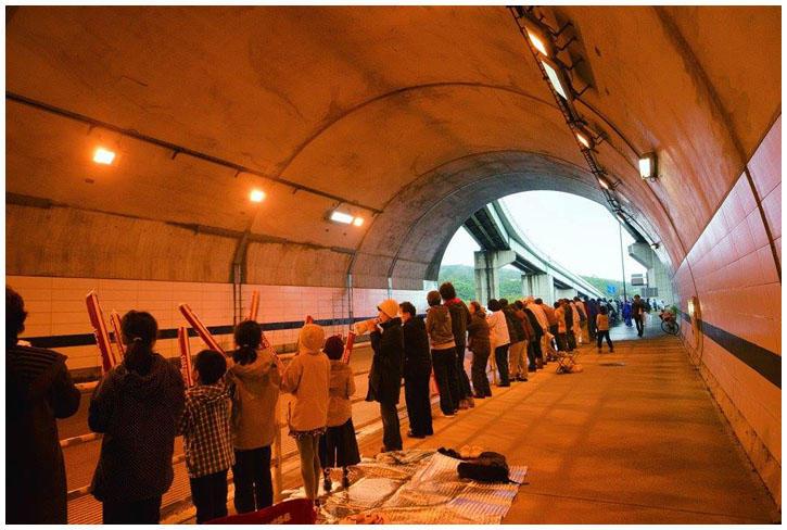 金沢マラソントンネル掃除