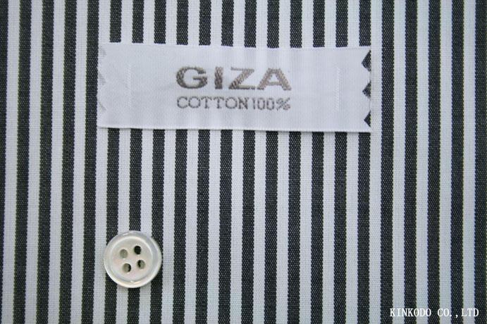 ロンドンストライプ ブラック(黒) 綿100% 100番手双糸