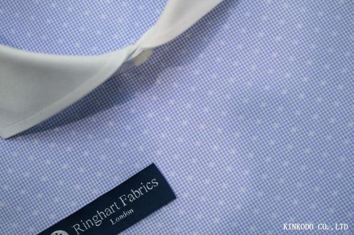 リングハート・ファブリック・ロンドン(Ringhart Fabric London)の星柄のチェック生地