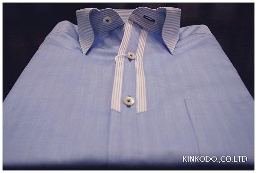 ブルークレリックシャツ
