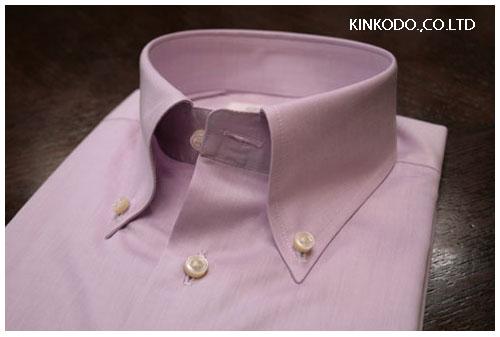 パープルボタンダウンシャツ