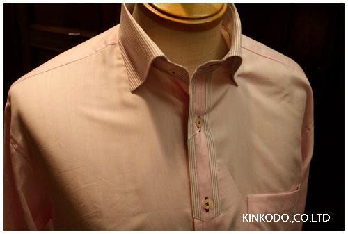 ピンククレリックシャツ