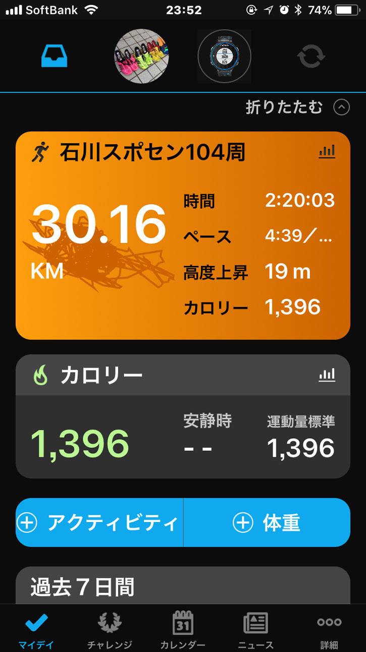 30キロ走