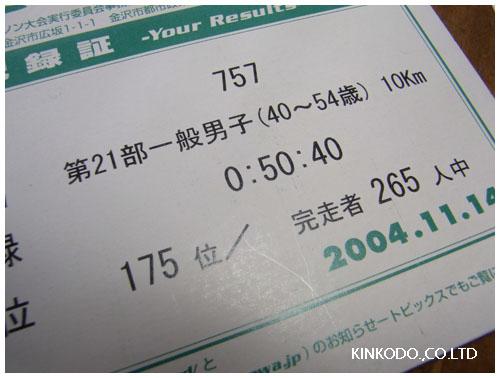 金沢市民マラソン第1回