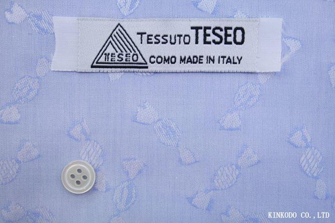 NO-M1730 キャンディー柄のブルードビー生地  TESEO(テセオ)社製生地 イタリー 綿100%